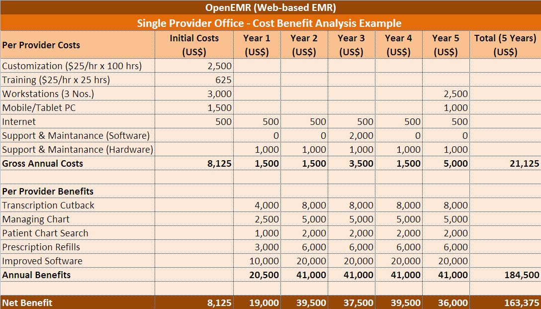 EMR ROI | Return on Investment | OpenEMR Support | Cost Benefit