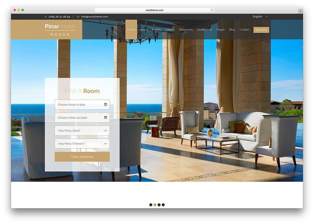 Top 15 HTML5 Hotel Booking Website Templates 2017 - Colorlib