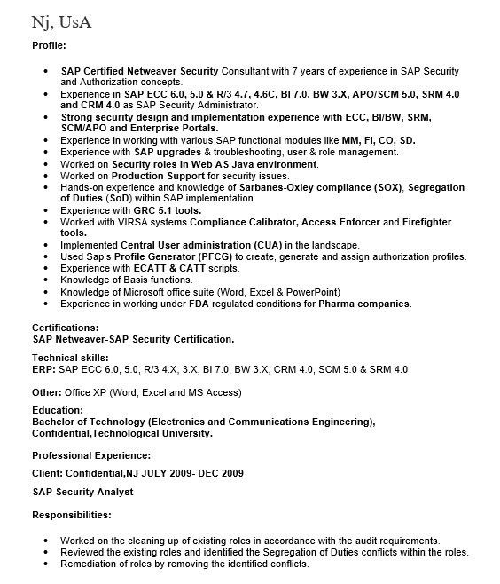 100 Sap Crm Resume Samples Crm Resume Resume For Your Job