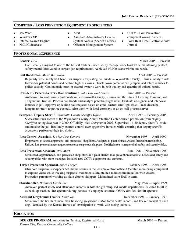 Download Loss Prevention Resume | haadyaooverbayresort.com