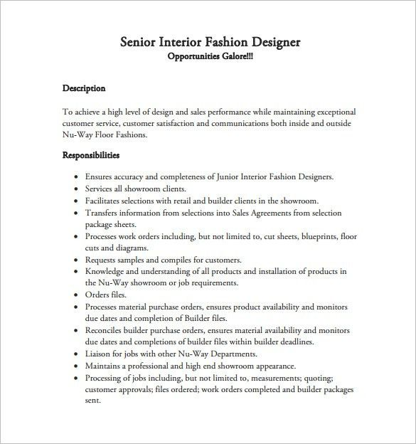 Fashion Designer Resume Template – 8+ Free Word, Excel, PDF Format ...