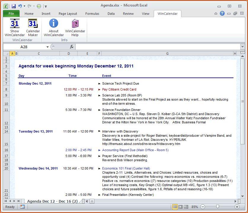 8+ agenda format - bookletemplate.org
