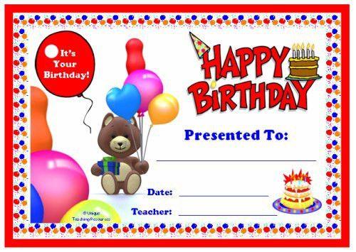 15 Birthday Certificate Templates | Certificate Templates