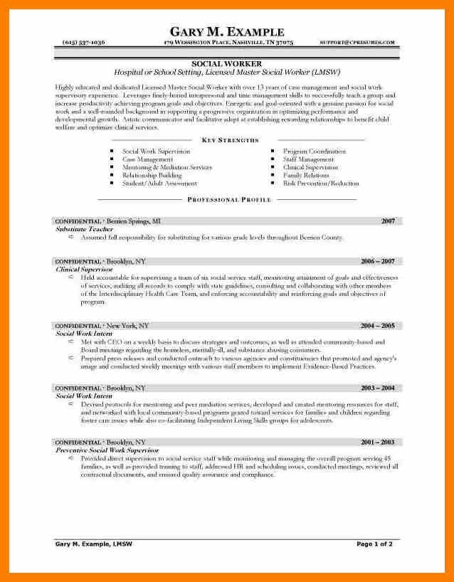 7+ sample social work resumes | hostess resume
