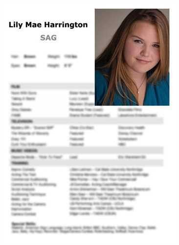 Headshot And Resume Sample] Actor Resume Sample Acting Resumes ...
