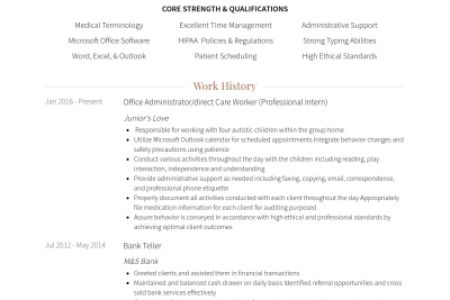 Direct care resume samples