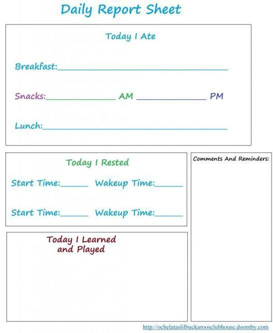 Best 25+ Preschool daily report ideas on Pinterest | Preschool ...