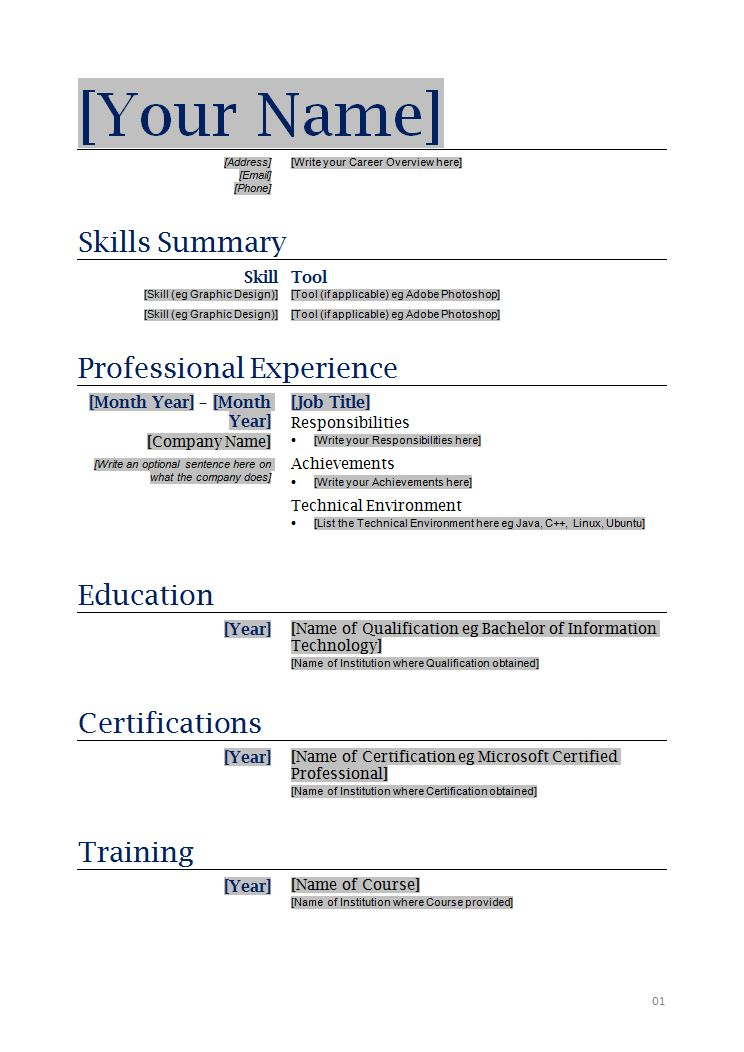 resume example it security careerperfectcom. professional ...
