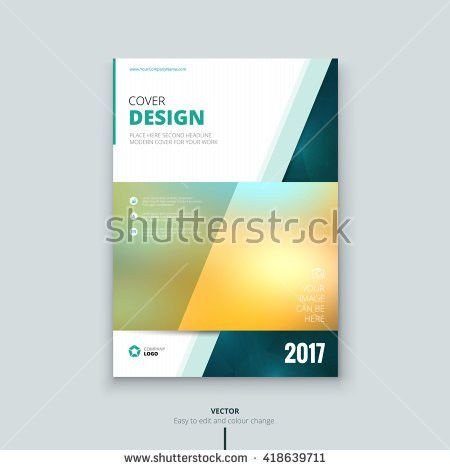 Cover Design Annual Report Catalog Magazine Stock Vector 418639729 ...