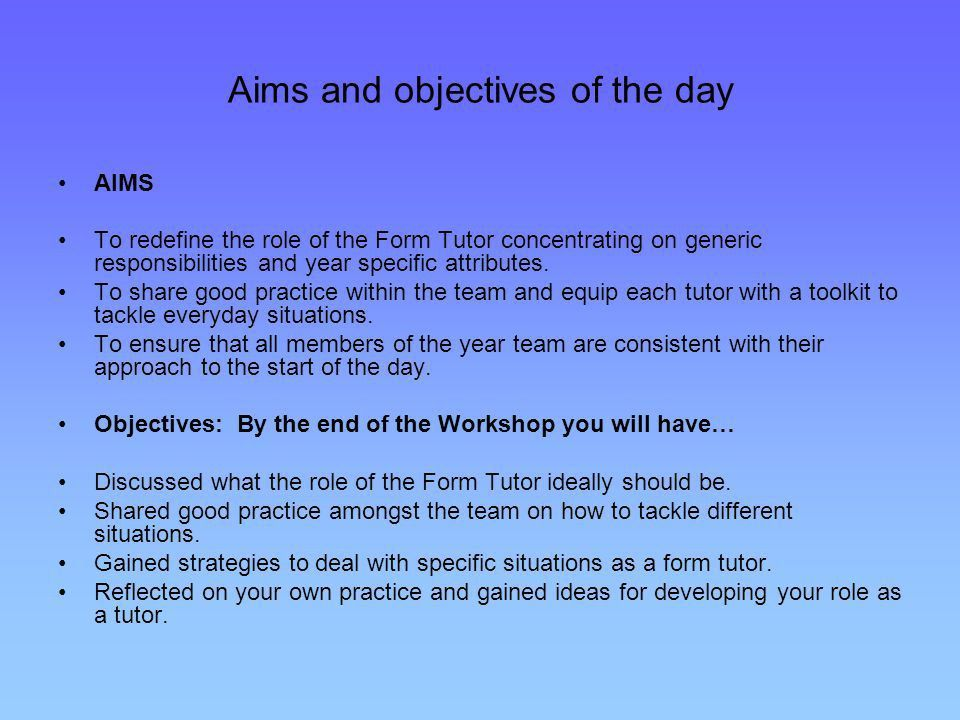 The Role of the Form Tutor - ppt video online download