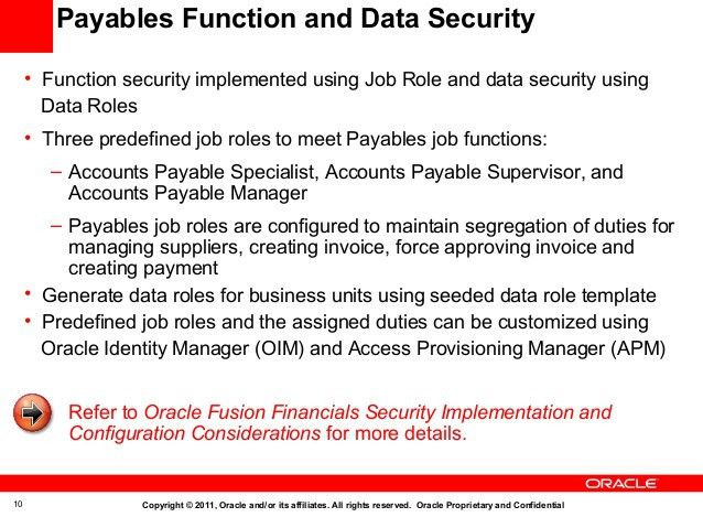 Oracle Fusion Applications Accounts Payables