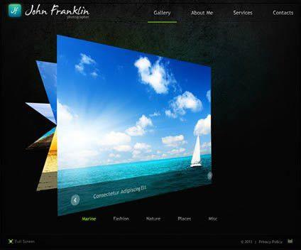 Best Flash Photo Gallery Website Templates | Entheos