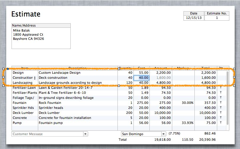 Time sheets and progress invoicing