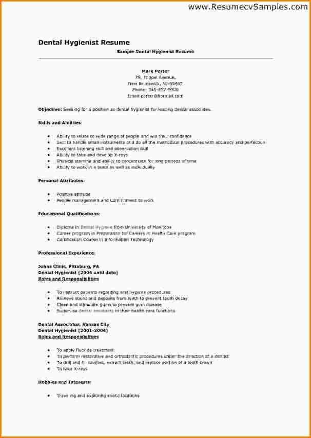 dental hygiene resume. writing dental assistant resume effectively ...
