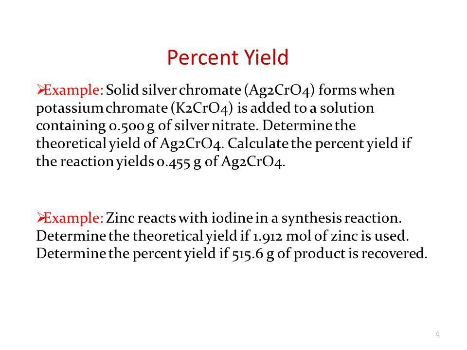 NIS – CHEMISTRY Lecture 65 Percent Yield Ozgur Unal ppt download