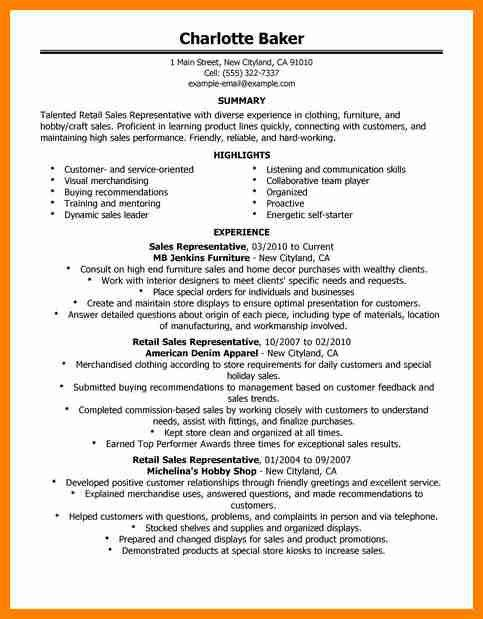 8+ retail sales resume examples   forklift resume