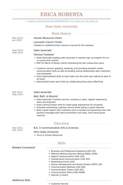 Beautiful Looking Hr Intern Resume 7 HR Resume - Resume Example