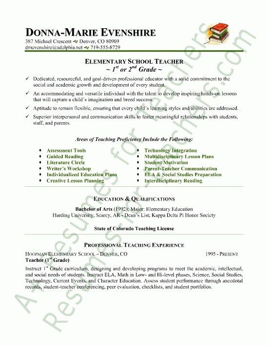 Resume Sample Teacher Objective. english teacher resume example ...