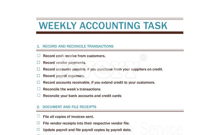 Provide bookkeeping services checklists for you by Eastharlemtax