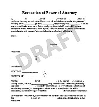 Create a Revocation of Power of Attorney | LegalTemplates
