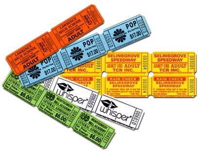 Custom Roll and Raffle Tickets