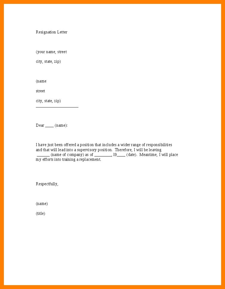 resignation letter template word best business template ...