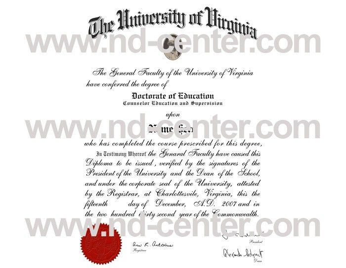 University of Western Ontario, University of Virginia degrees!