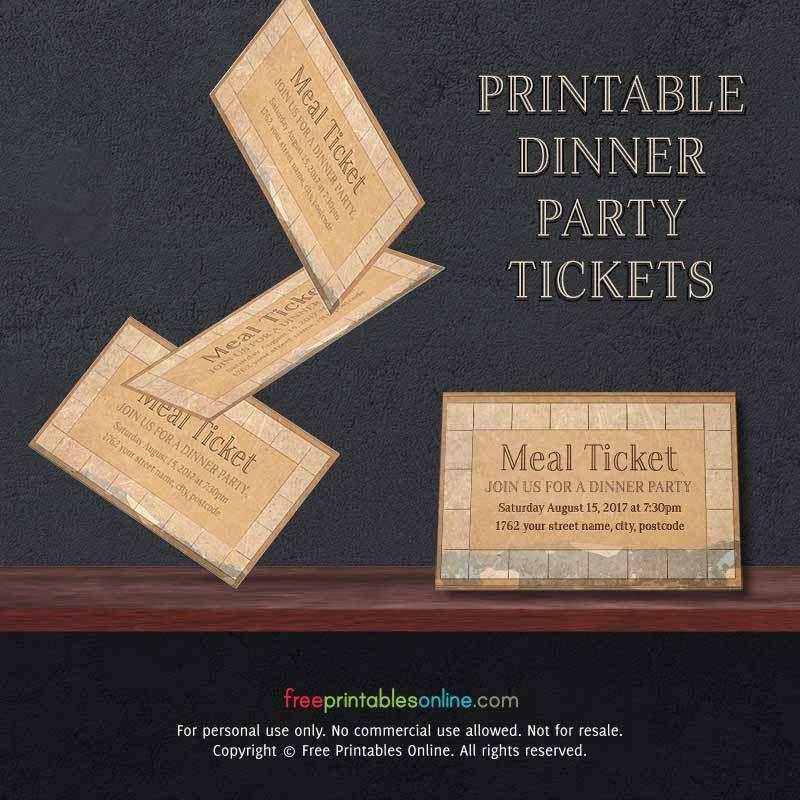 Vintage Paper Printable Meal Ticket Template | Free Printables Online