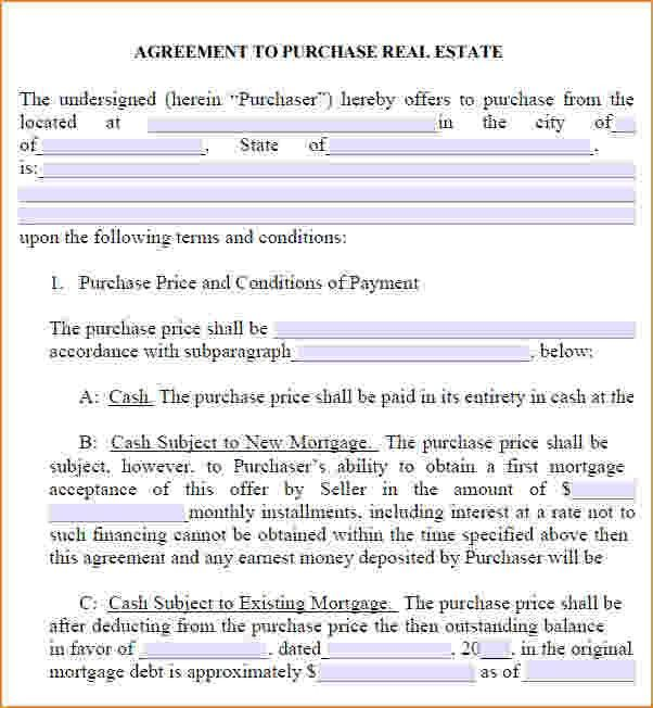8+ Real Estate Purchase Contract Template | Timeline Template