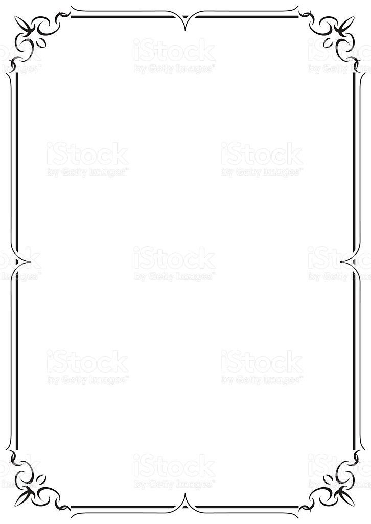 Delicate Black Lined Border On Cream Colored Paper stock vector ...