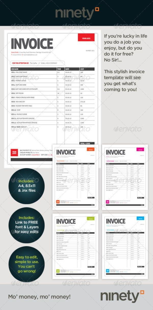 38+ Invoice Templates PSD DOCX INDD - Free Download | PSDTemplatesBlog
