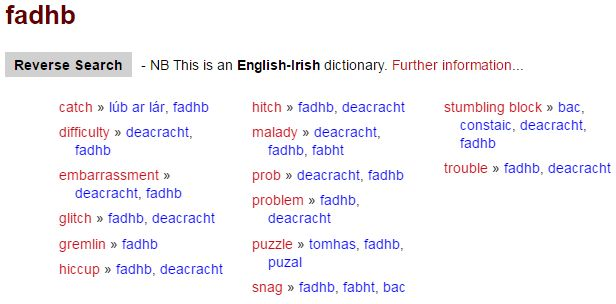 New English-Irish Dictionary from Foras na Gaeilge