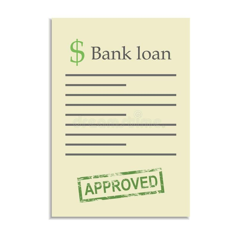 Bank Loan Document With Approved Stamp Stock Vector - Image: 49916213