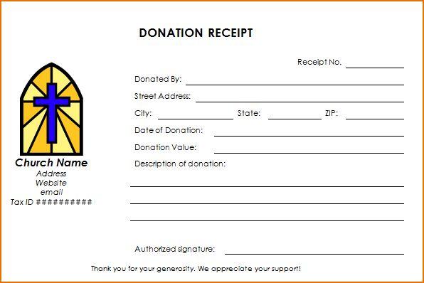 4+ donation receipt template | Printable Receipt