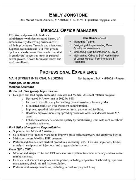 Sample Resume For Medical Office Assistant | Experience Resumes