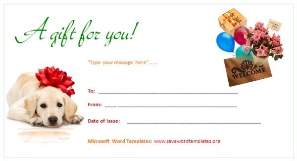 Gift Certificate Template | Save Word Templates