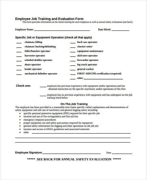 Sample HR Evaluation Form   7+ Documents In PDF, Word