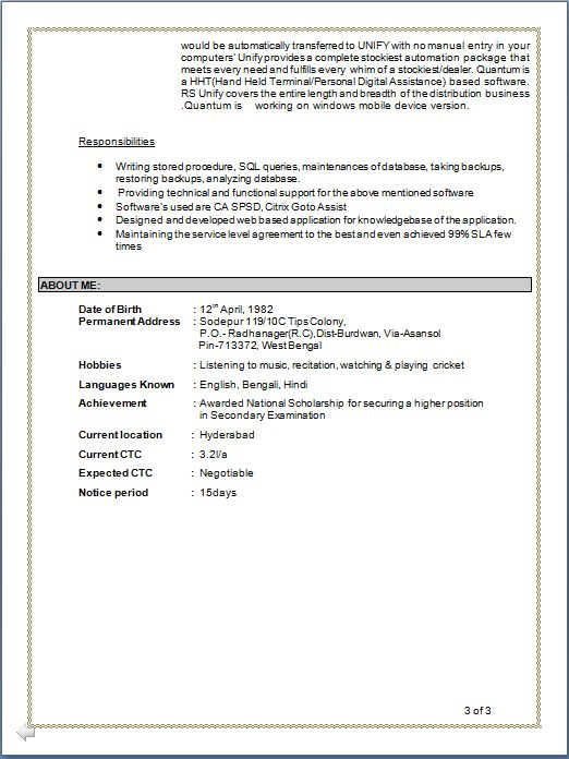 Breathtaking Ctc Full Form In Resume 42 For Your Free Online ...