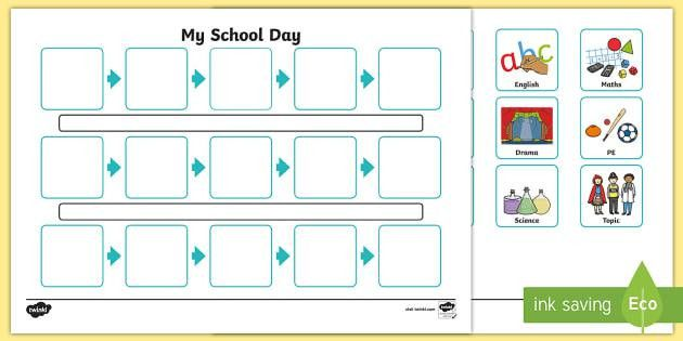 Individuals Visual Timetable Template - individual, visual