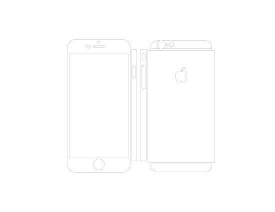 Iphone 6 Skin template for cutting or machining Digital