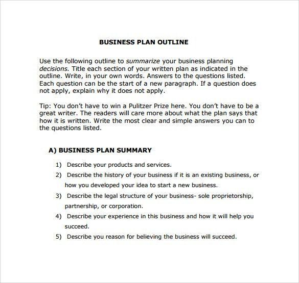 Business Plan Templates Online
