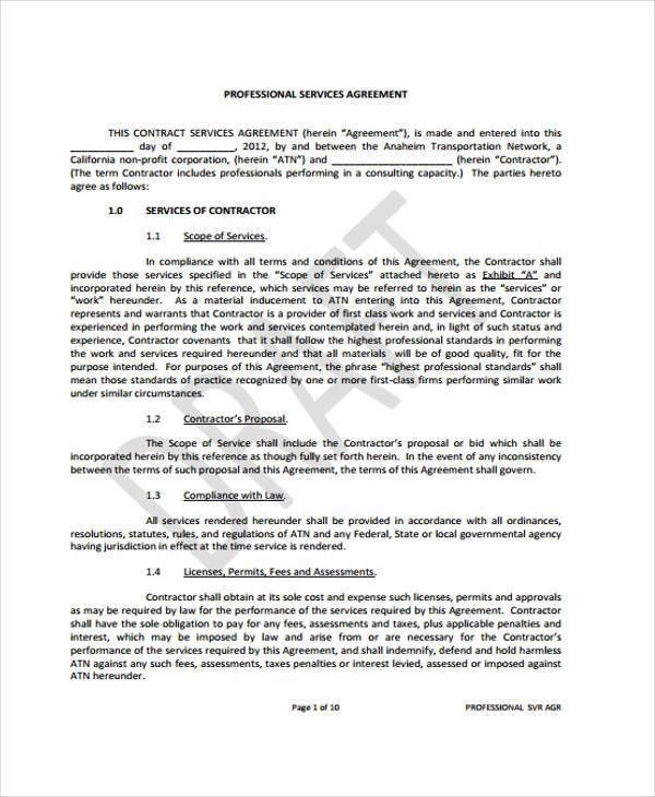 Business Service Agreement. Example Of Business Educational ...