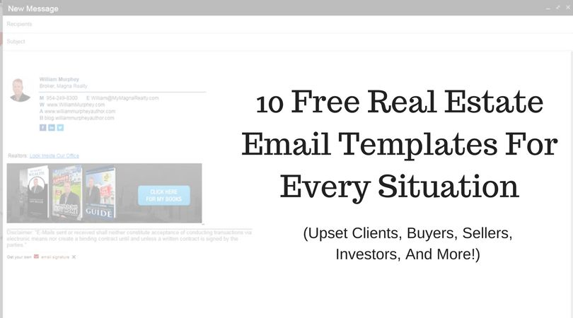 Free Real Estate Email Templates For Every Situation (Upset ...