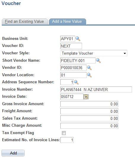 NAU - ITS - Creating Template Voucher - PS Financials