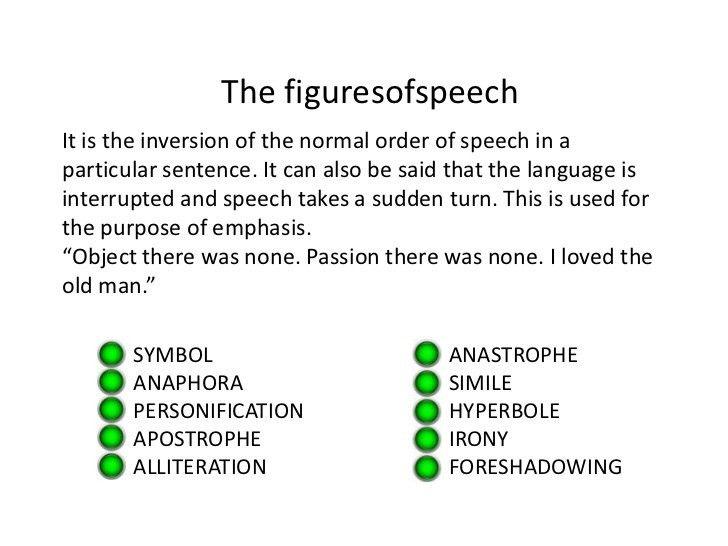 Figures of speech in the tale tell heart