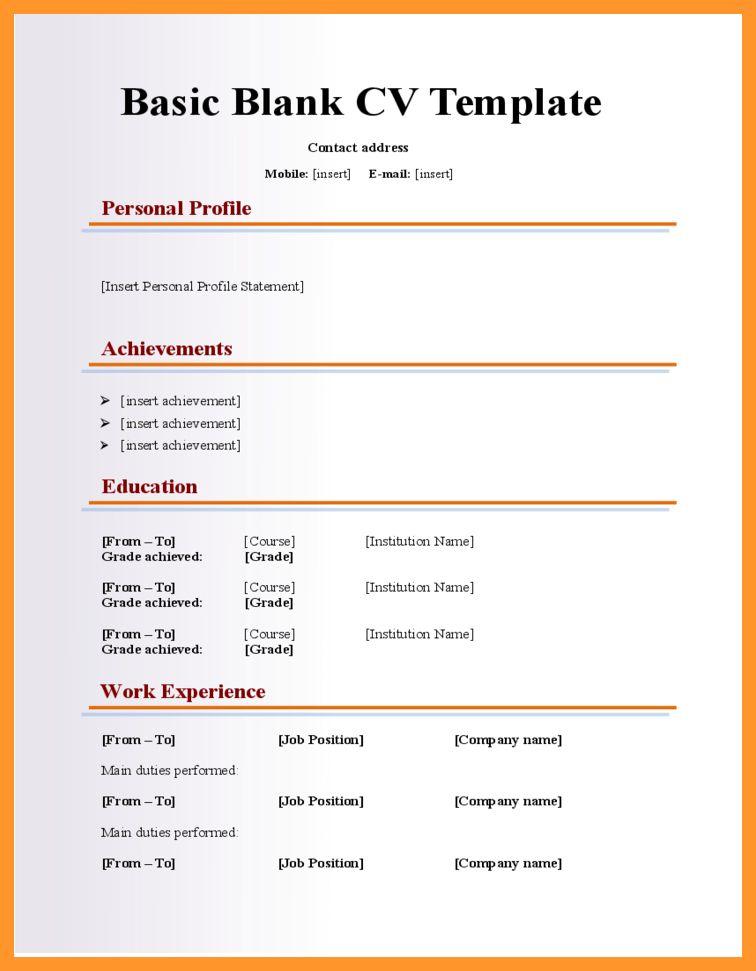Blank form resume download \ Revloader download