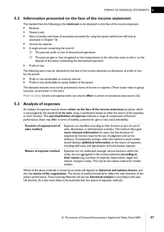 Financial accounting icab chapter 2 format of financial statements