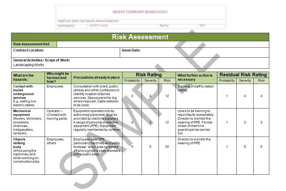 Landscaping Risk Assessment | Seguro