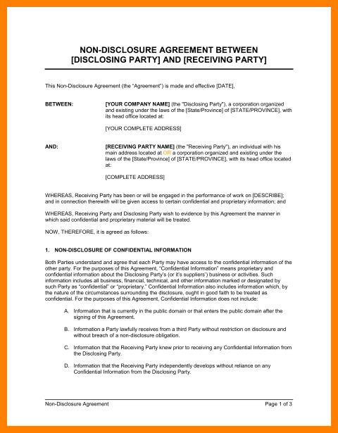 Agreement contract sample between two parties
