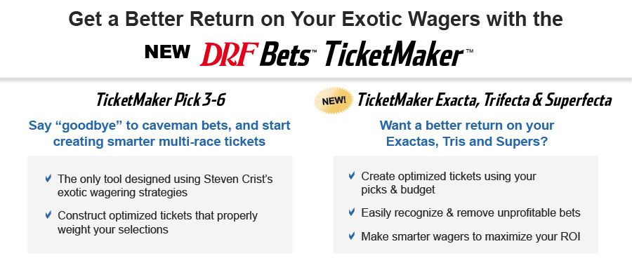 Two Ways To Optimize Tickets With Ticketmaker | Daily Racing Form